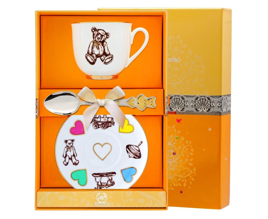 Детские фарфоровые наборы посуды купить в Москве, цены в интернет магазине.