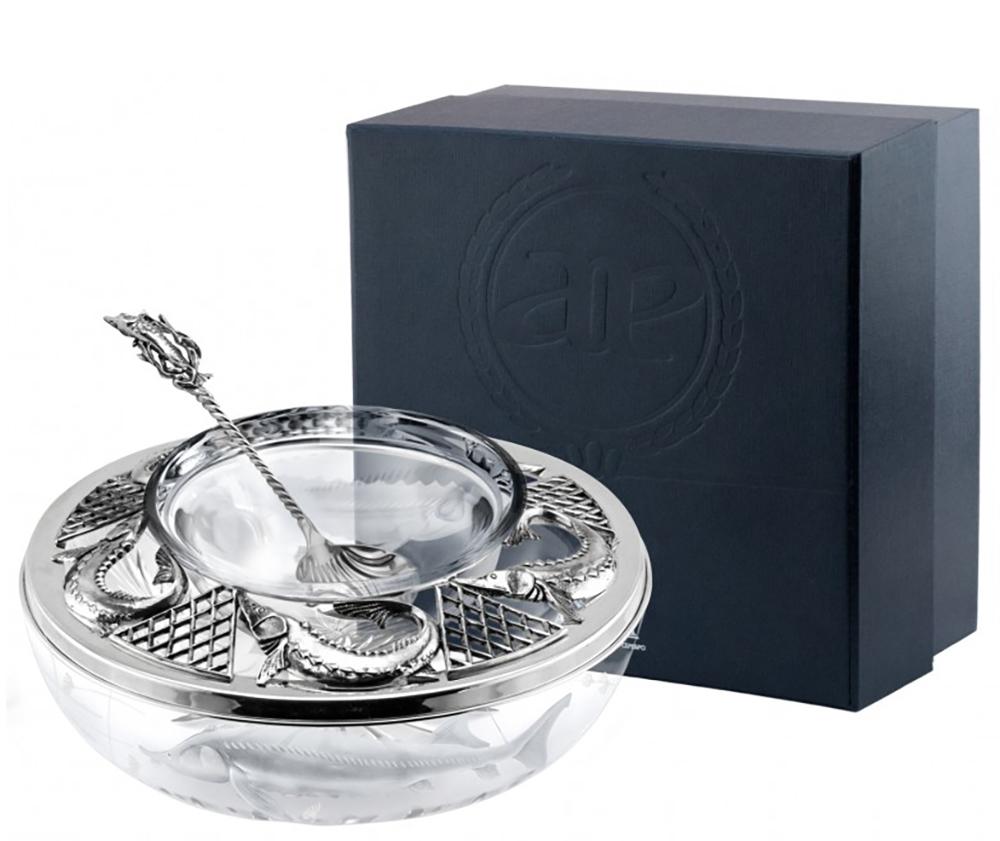 Купить серебряные икорницы из серебра 925 пробы в Москве